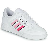 鞋子 女孩 球鞋基本款 Adidas Originals 阿迪达斯三叶草 CONTINENTAL 80 STRI J 白色 / 玫瑰色