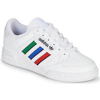 鞋子 儿童 球鞋基本款 Adidas Originals 阿迪达斯三叶草 CONTINENTAL 80 STRI J 白色 / 绿色 / 蓝色