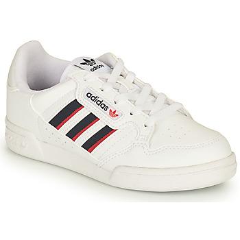 鞋子 儿童 球鞋基本款 Adidas Originals 阿迪达斯三叶草 CONTINENTAL 80 STRI C 白色 / 蓝色