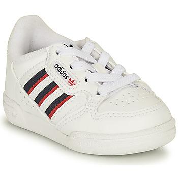 鞋子 儿童 球鞋基本款 Adidas Originals 阿迪达斯三叶草 CONTINENTAL 80 STRI I 白色 / 蓝色