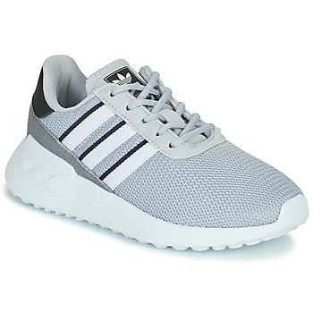 鞋子 男孩 球鞋基本款 Adidas Originals 阿迪达斯三叶草 LA TRAINER LITE C 灰色
