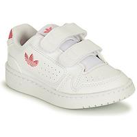 鞋子 女孩 球鞋基本款 Adidas Originals 阿迪达斯三叶草 NY 90 CF I 白色 / 玫瑰色