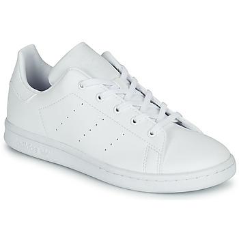 鞋子 儿童 球鞋基本款 Adidas Originals 阿迪达斯三叶草 STAN SMITH C 白色