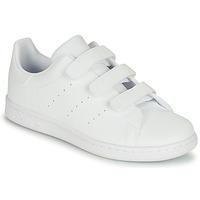 鞋子 儿童 球鞋基本款 Adidas Originals 阿迪达斯三叶草 STAN SMITH CF C 白色
