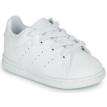 鞋子 儿童 球鞋基本款 Adidas Originals 阿迪达斯三叶草 STAN SMITH EL I 白色