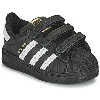 鞋子 儿童 球鞋基本款 Adidas Originals 阿迪达斯三叶草 SUPERSTAR CF I 黑色 / 白色