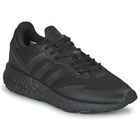 鞋子 男孩 球鞋基本款 Adidas Originals 阿迪达斯三叶草 ZX 1K BOOST J 黑色