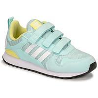 鞋子 儿童 球鞋基本款 Adidas Originals 阿迪达斯三叶草 ZX 700 HD CF C 蓝色 / 黄色