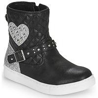 鞋子 女孩 短筒靴 Primigi B&G LUX 黑色 / 银灰色
