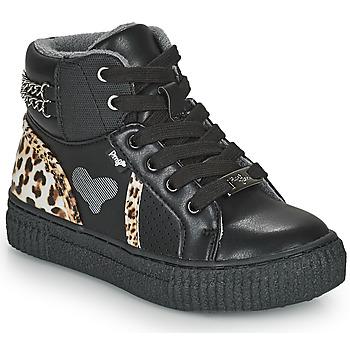 鞋子 女孩 高帮鞋 Primigi GIRL ALPHA 黑色 / Leopard