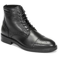鞋子 男士 短筒靴 Selected 思莱德 BROGUE 黑色