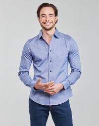 衣服 男士 长袖衬衫 Scotch & Soda CLASSIC SLIM FIT KNITTED 蓝色