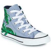 鞋子 儿童 高帮鞋 Converse 匡威 CHUCK TAYLOR ALL STAR DINO DAZE HI 蓝色 / 绿色