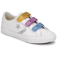 鞋子 女孩 球鞋基本款 Converse 匡威 STAR PLAYER 3V GLITTER TEXTILE OX 白色 / 多彩
