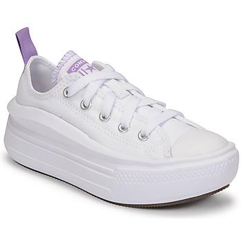 鞋子 女孩 球鞋基本款 Converse 匡威 CHUCK TAYLOR ALL STAR MOVE CANVAS OX 白色 / 玫瑰色