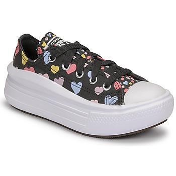 鞋子 女孩 球鞋基本款 Converse 匡威 CHUCK TAYLOR ALL STAR MOVE ALWAYS ON HEARTS OX 黑色 / 多彩