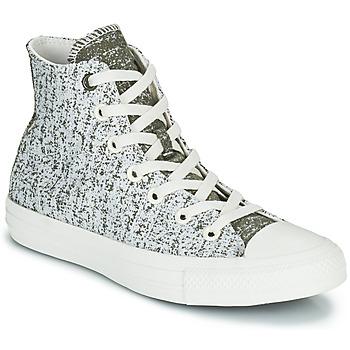 鞋子 女士 高帮鞋 Converse 匡威 CHUCK TAYLOR ALL STAR HYBRID TEXTURE HI 灰色