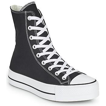 鞋子 女士 高帮鞋 Converse 匡威 CHUCK TAYLOR ALL STAR LIFT CORE CANVAS X-HI 黑色