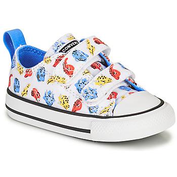 鞋子 儿童 球鞋基本款 Converse 匡威 CHUCK TAYLOR ALL STAR 2V DINO DAZE OX 白色 / 绿色 / 橙色