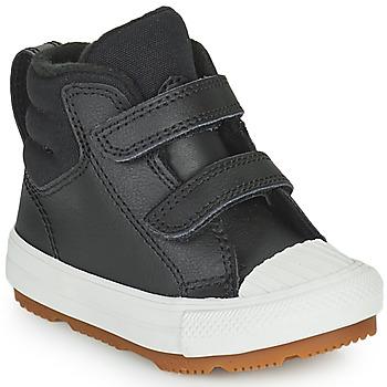 鞋子 儿童 高帮鞋 Converse 匡威 CHUCK TAYLOR ALL STAR BERKSHIRE BOOT SEASONAL LEATHER HI 黑色