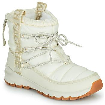鞋子 女士 雪地靴 The North Face 北面 W THERMOBALL LACE UP 浅米色