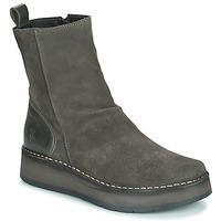 鞋子 女士 短筒靴 Fly London RENO 灰色