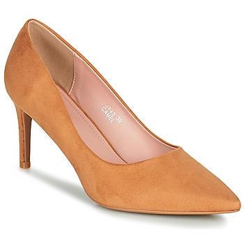 鞋子 女士 高跟鞋 Moony Mood PEROLINE 驼色