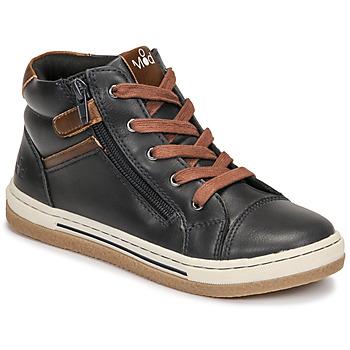 鞋子 男孩 高帮鞋 Mod'8 KYNATA 海蓝色 / 棕色