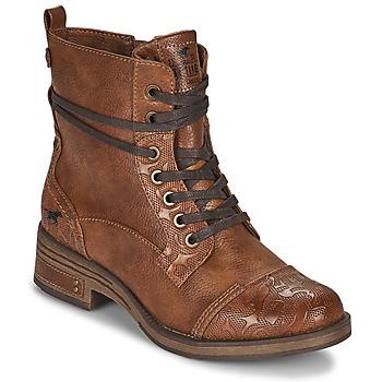 鞋子 女士 短筒靴 Mustang 1293501 棕色