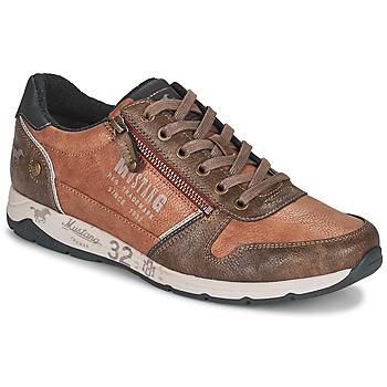 鞋子 男士 球鞋基本款 Mustang BRICA 棕色