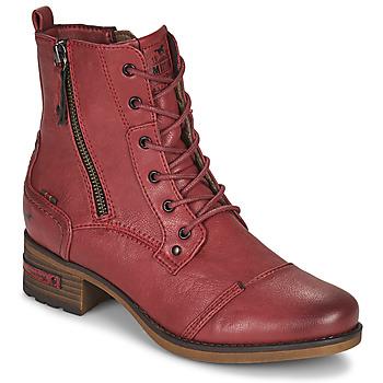 鞋子 女士 短筒靴 Mustang 1229513 红色