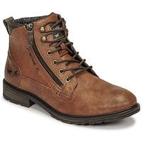鞋子 男士 短筒靴 Mustang 4140501 棕色