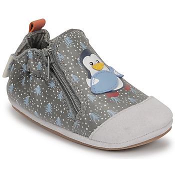 鞋子 男孩 儿童拖鞋 Robeez BLUE PINGUINS 灰色