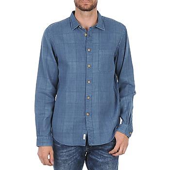 衣服 男士 长袖衬衫 Façonnable JJMCT502000ERE 蓝色