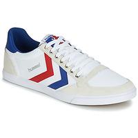 鞋子 男士 球鞋基本款 Hummel TEN STAR LOW CANVAS 白色 / 红色 / 蓝色