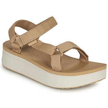 鞋子 女士 凉鞋 Teva Flatform Universal 米色 / 白色