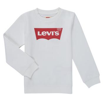 衣服 男孩 卫衣 Levi's 李维斯 BATWING CREWNECK SWEATSHIRT 白色