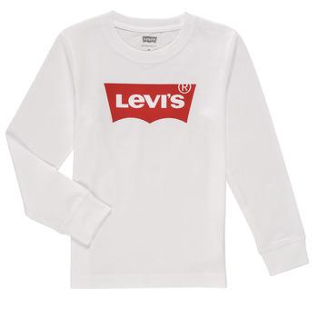 衣服 男孩 长袖T恤 Levi's 李维斯 L/S BATWING TEE 白色