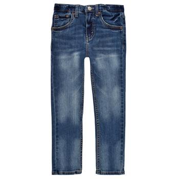 衣服 男孩 牛仔铅笔裤 Levi's 李维斯 510 SKINNY FIT EVERYDAY PERFORMANCE JEANS 蓝色 / Fonce