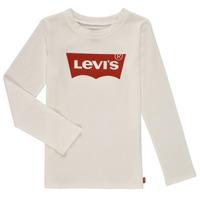 衣服 女孩 长袖T恤 Levi's 李维斯 LS BATWING TEE 白色