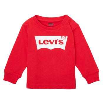 衣服 男孩 长袖T恤 Levi's 李维斯 L/S BATWING TEE 红色