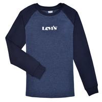 衣服 男孩 长袖T恤 Levi's 李维斯 LONG SLV WAFFLE TEE SHIRT 海蓝色