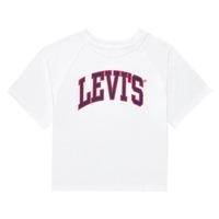 衣服 女孩 短袖体恤 Levi's 李维斯 SSRGLANHGHRISETESHIRT 白色