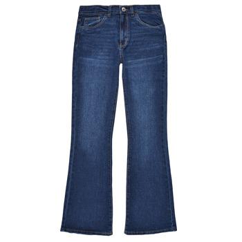 衣服 女孩 喇叭牛仔裤 Levi's 李维斯 HIGHRISECROPFLARE 蓝色