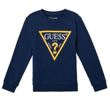 衣服 男孩 卫衣 Guess CANISE 蓝色 / Fonce