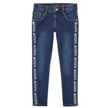 衣服 女孩 紧身牛仔裤 Guess PALINCA 蓝色