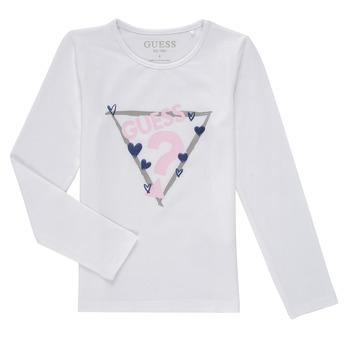 衣服 女孩 长袖T恤 Guess MONICA 白色