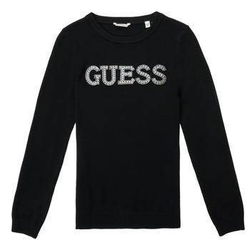 衣服 女孩 羊毛衫 Guess TAKEI 黑色