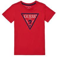 衣服 男孩 短袖体恤 Guess THERONN 红色