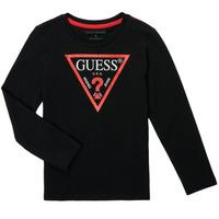 衣服 男孩 长袖T恤 Guess SOLEDAD 黑色
